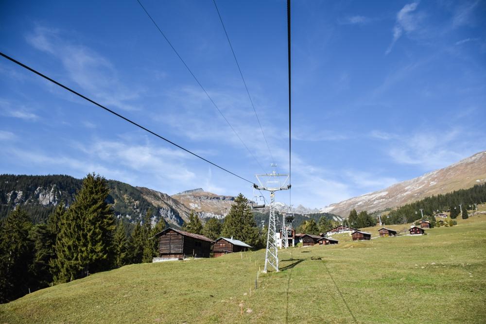 Hoteltipp Flims Schweiz The Hide Hotel Sesselbahn nach Foppa