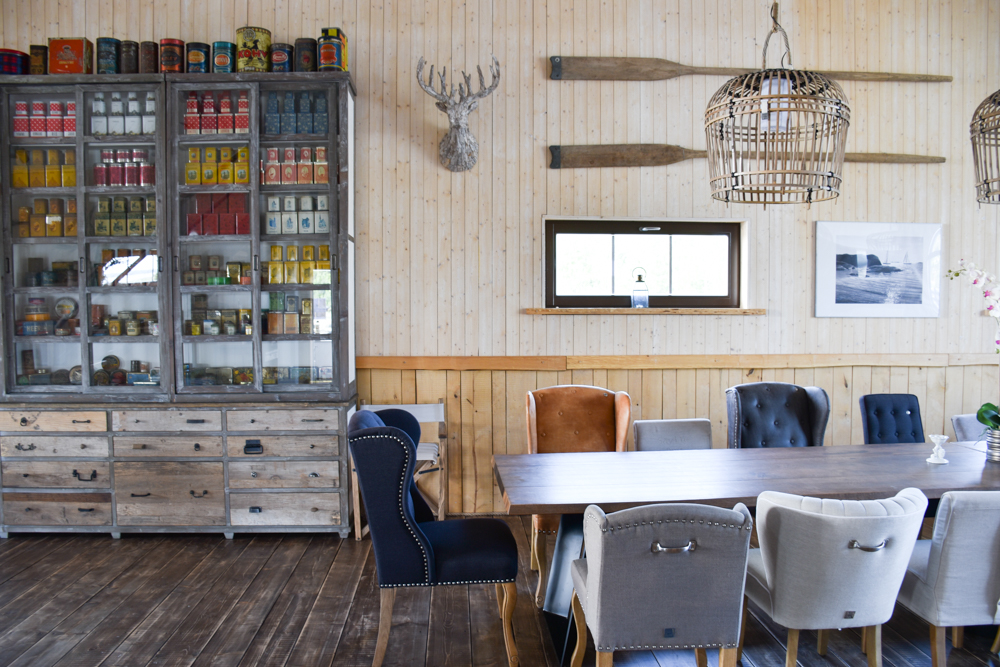 Hoteltipp Muhu Estland Bottengarn Boutique Guesthouse Esstisch