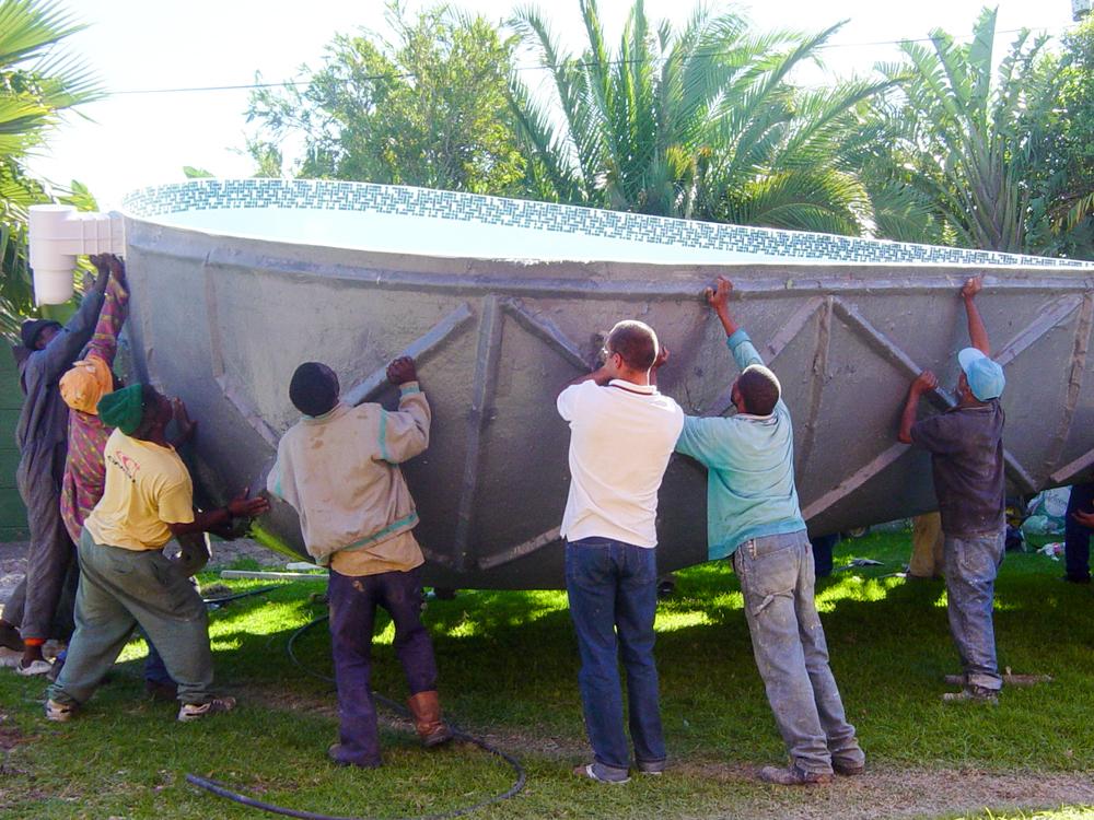 Auswanderung nach Südafrika Poolbau