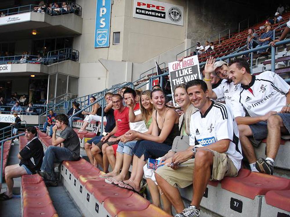 Auswanderung nach Südafrika Rugbygame mit Gästen