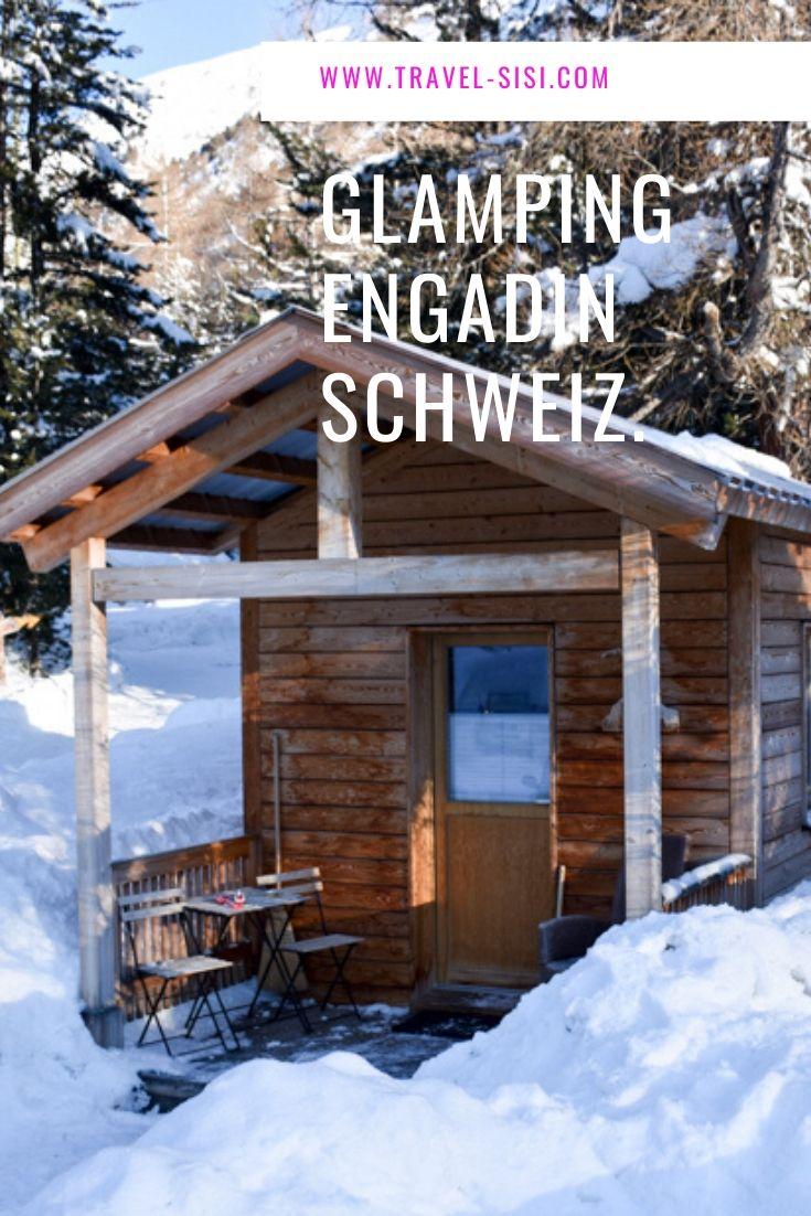 Glamping im Winter Engadin Graubünden Schweiz