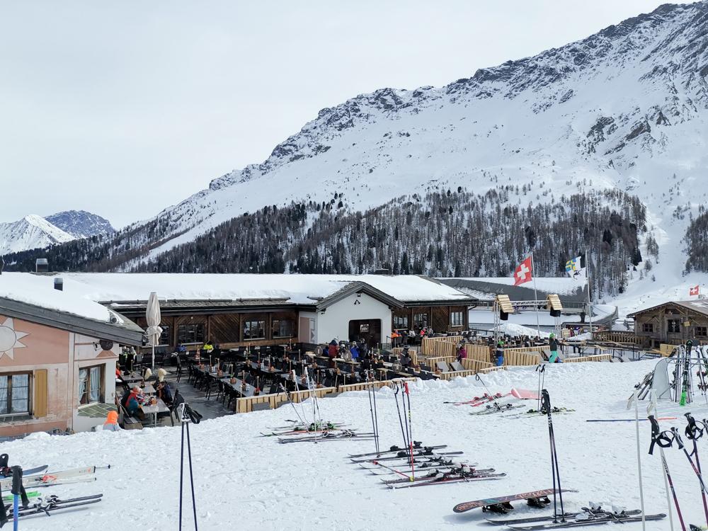 Winter Weekend Savognin Graubünden Schweiz Bergrestaurant Steil'Alva