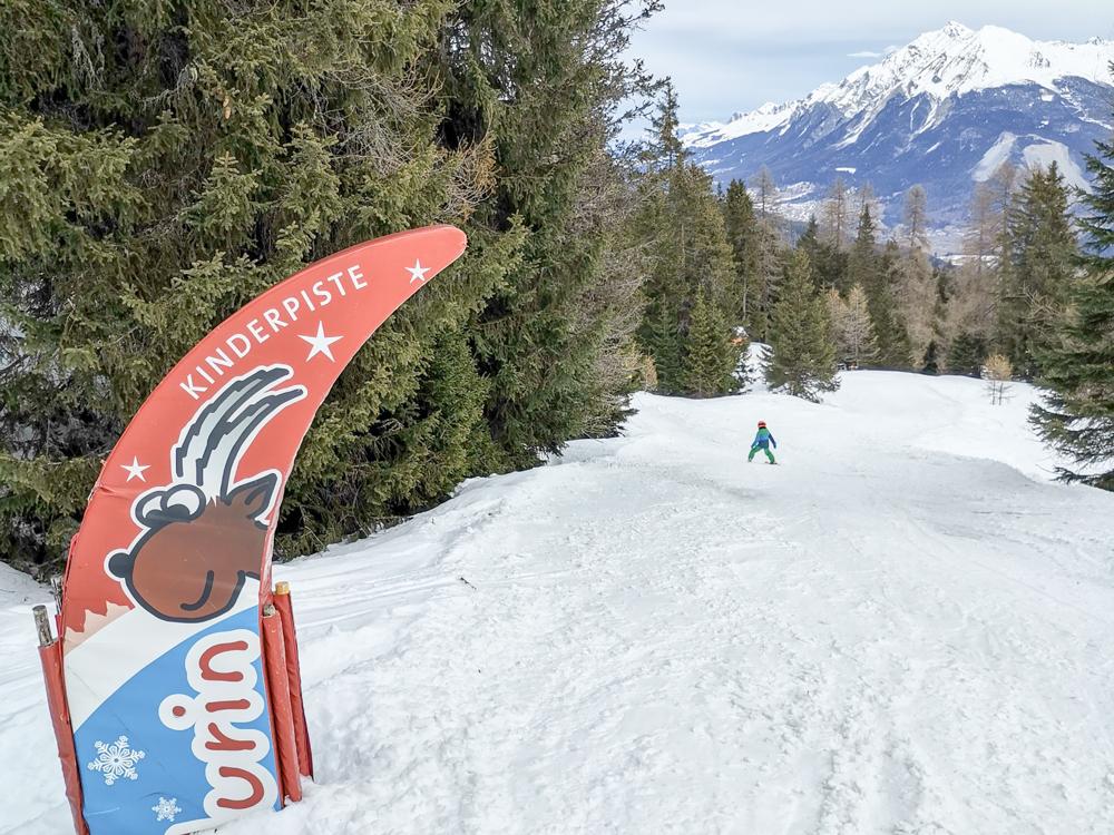 Winter Weekend Savognin Graubünden Schweiz Kinderpiste Flurin