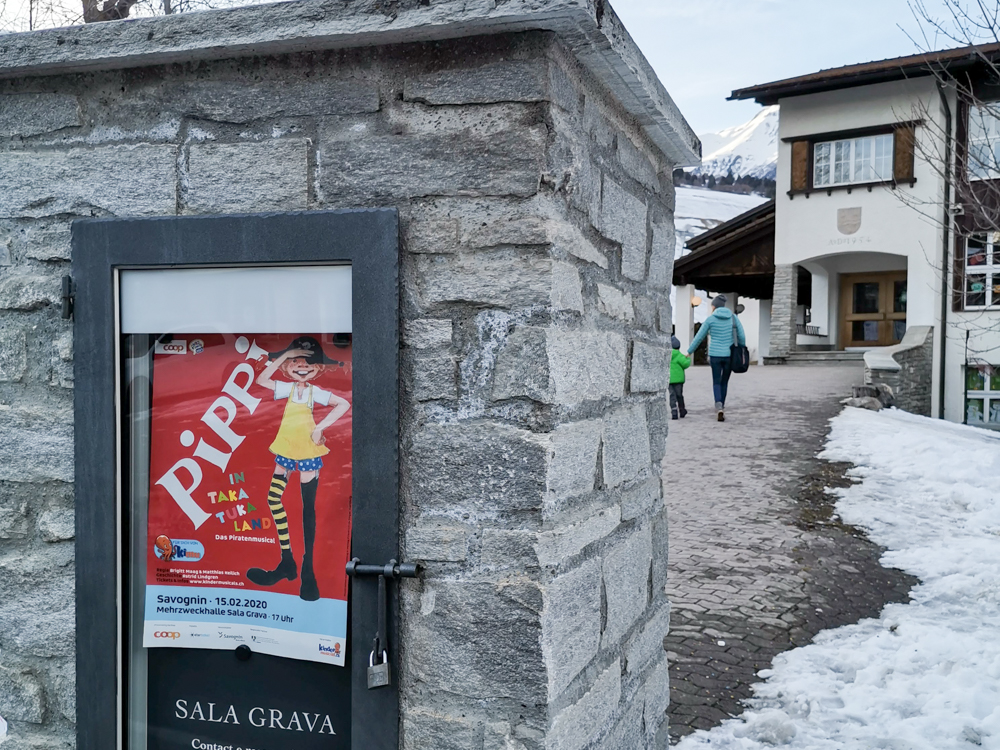 Winter Weekend Savognin Graubünden Schweiz Pippi Langstrumpf Kindermusical