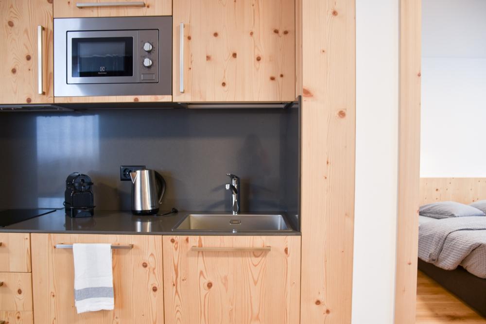 Catrina Resort Unterkunfttipp Disentis Graubünden Schweiz Küche