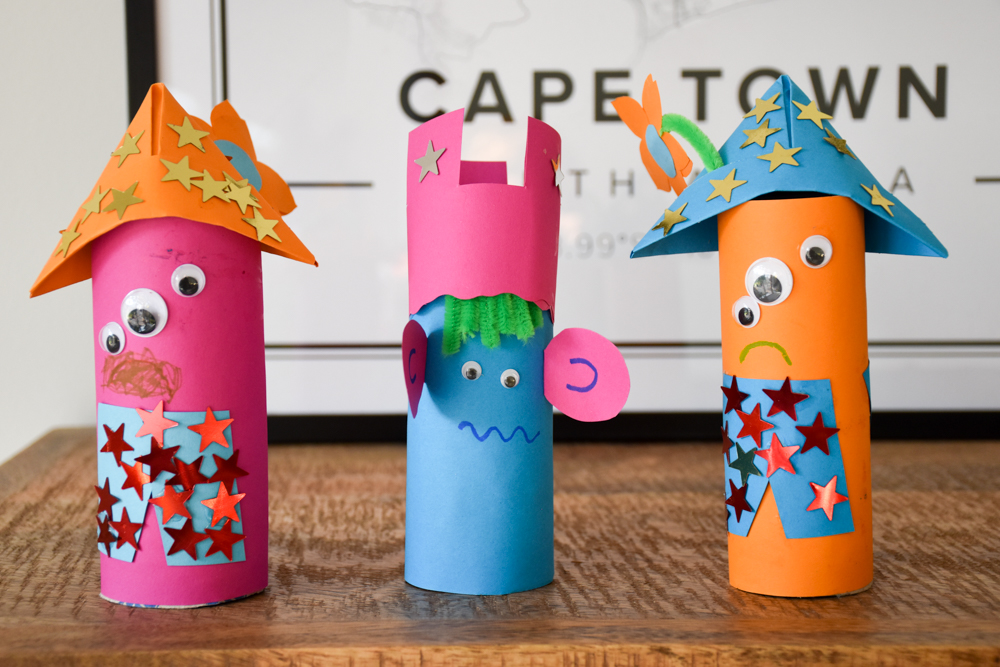 Unterhaltungstipps Kindergartenkind Coronakrise Corona Monster aus Klorollen