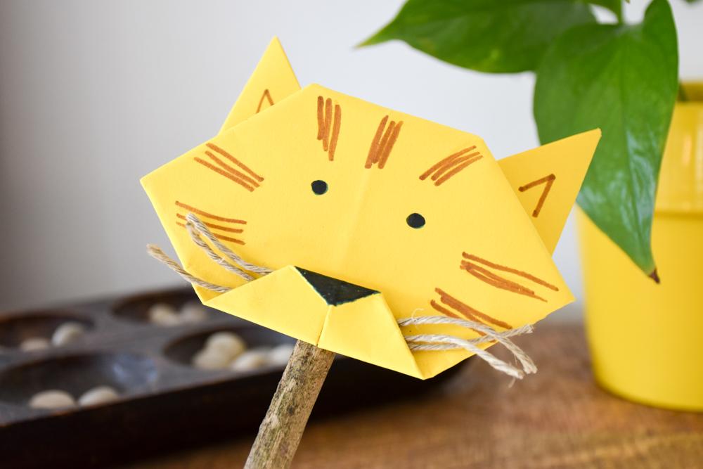 Unterhaltungstipps Kindergartenkind Coronakrise Origami Löwe