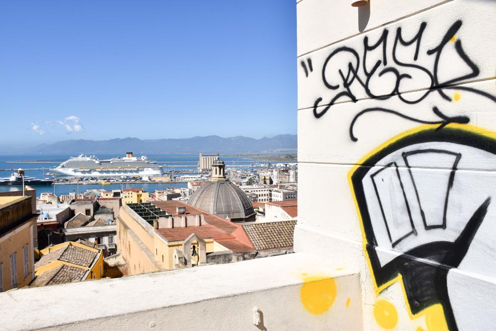 Corona Sardinien Blick über Cagliari von der Bastione Saint Remy
