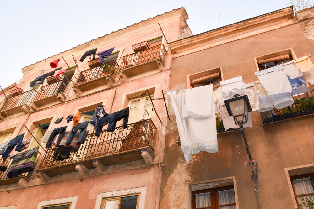 Corona Sardinien Häuser in Cagliari