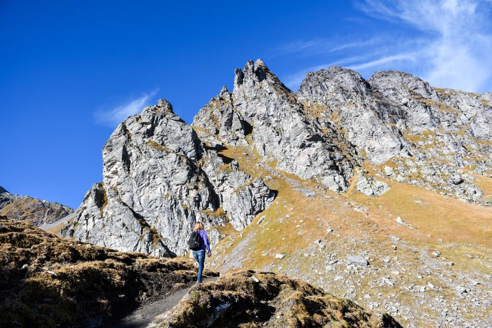 5-Seen-Wanderung Pizol Heidiland St. Gallen Schweiz Wanderung nahe imposanter Bergspitzen