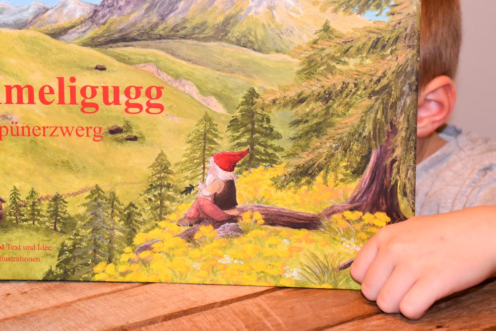 Unterkunftstipp Heimeli Sapün Arosa Graubünden Schweiz Buch Heimeligugg der Sapünerzwerg