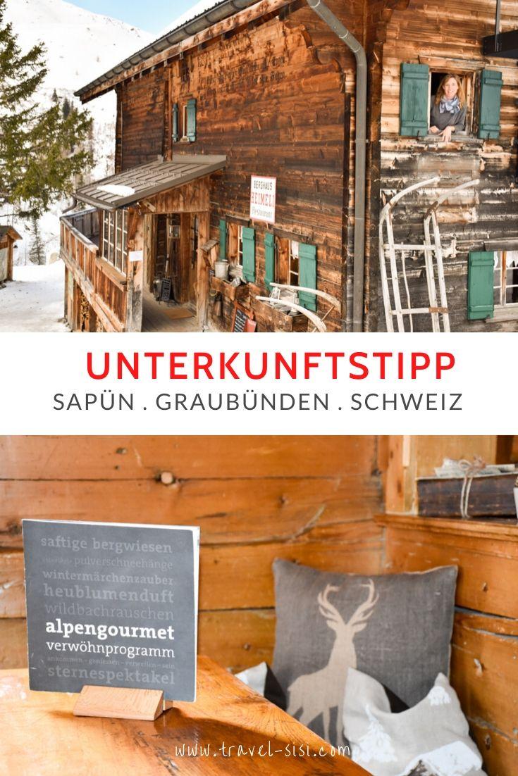 Unterkunft Heimeli Sapün Graubünden Schweiz