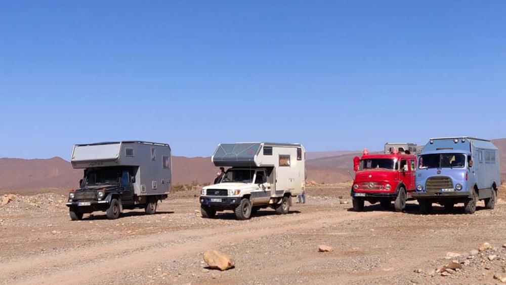 Weltreise im Camper Weg auf Zeit unterwegs mit anderen in Marokko