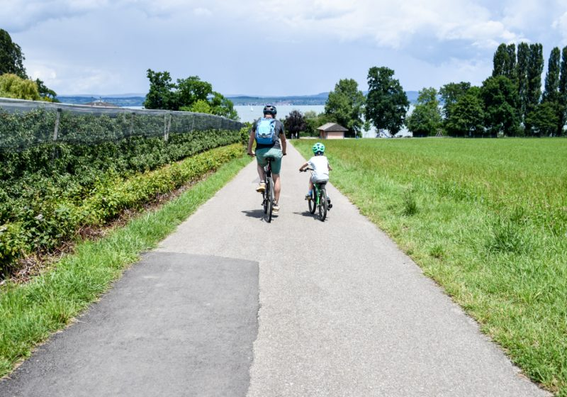 Familienfreundliche Fahrradtour in Thurgau am Ufer des Bodensee