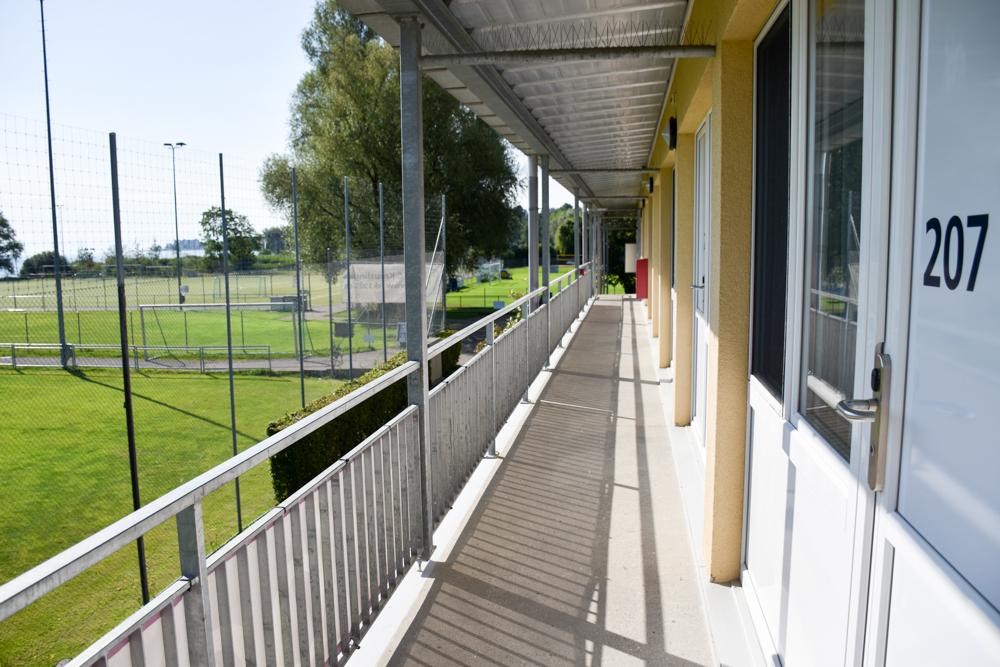 Familienfreundliche Fahrradtour Thurgau Bodensee Ausblick Zimmer Bodensee-Arena