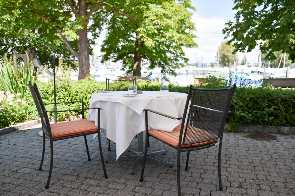 Familienfreundliche Fahrradtour Thurgau Bodensee Restaurant Seegarten Kreuzlingen