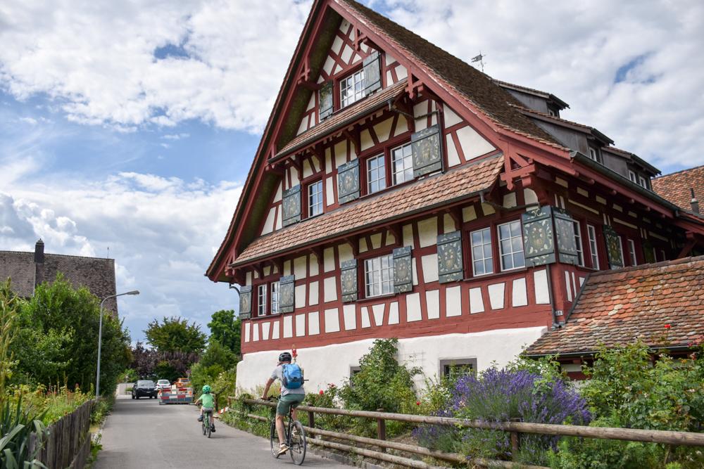 Familienfreundliche Fahrradtour Thurgau Bodensee Riegelhaus Ermatingen