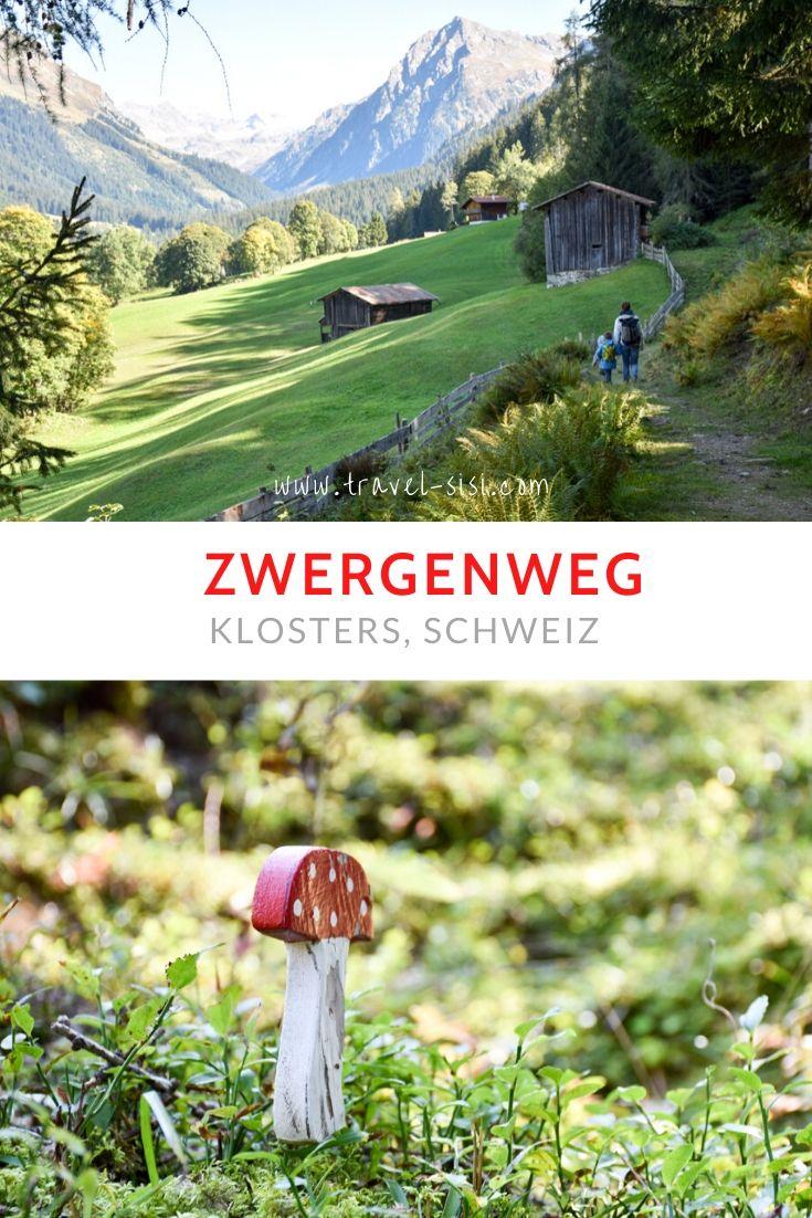 Themenwanderung Zwergenweg Klosters Prättigau Graubünden Schweiz