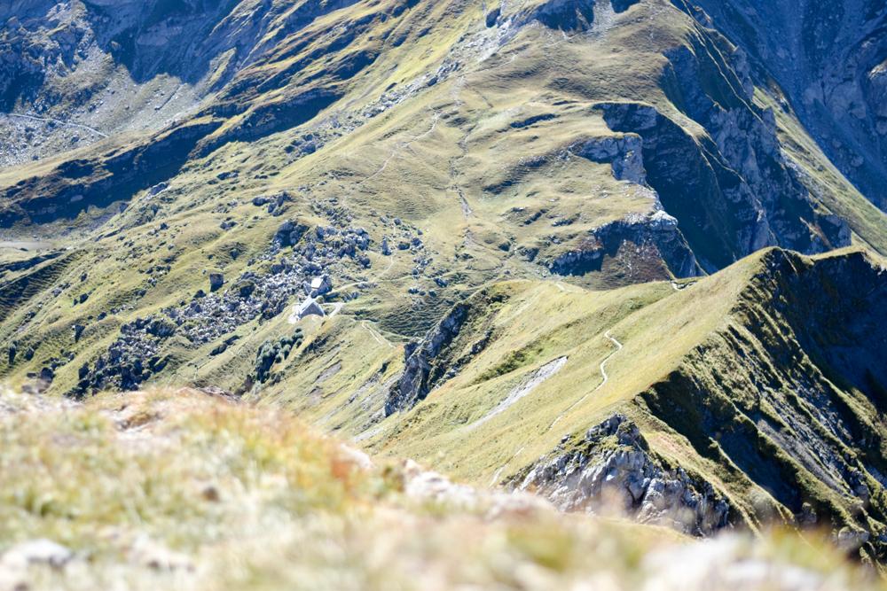 Wanderung Liechtenstein Fürstin-Gina-Weg Blick zur Pfälzerhütte
