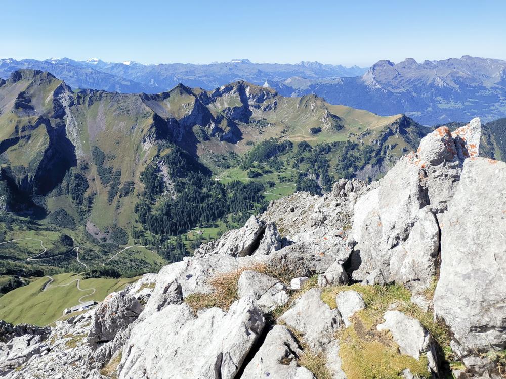 Wanderung Liechtenstein Fürstin-Gina-Weg Pfälzerhütte Aussicht Augstenberg