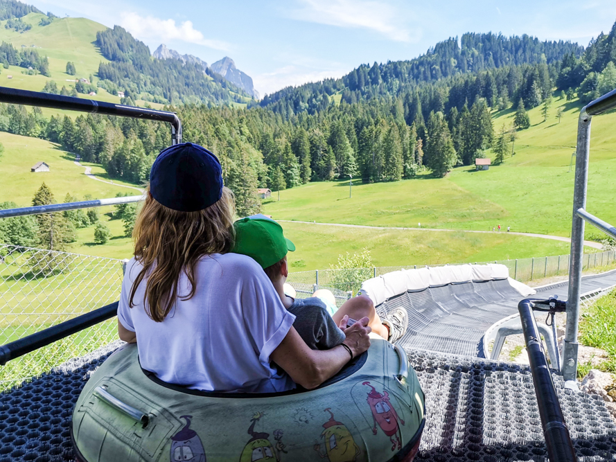 Familienausflug Sattel Hochstuckli Schwyz Schweiz Travel Sisi Esther Mattle