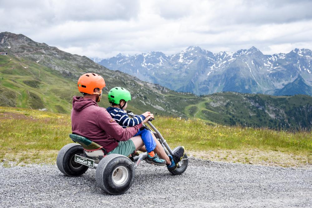 Familienwochenende Pitztal Tirol Österreich Zirbencart Hochzeiger