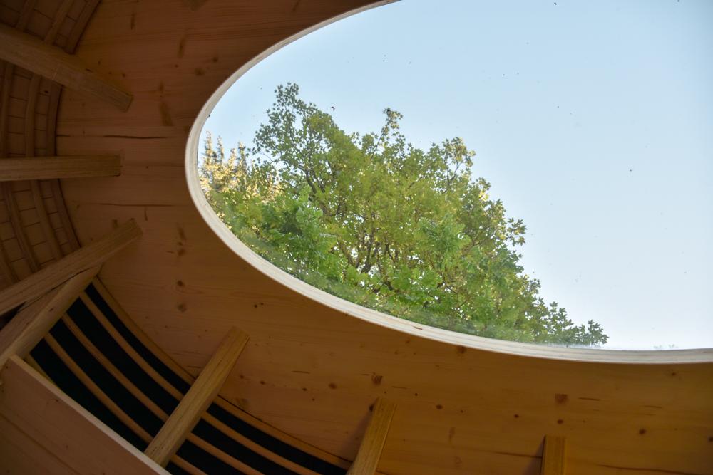 Unterkunft Berner Oberland Schweiz Bienenkorb Jugendherberge Grindelwald Blick in den Himmel