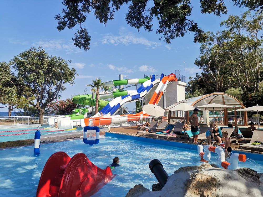 Camping Rundreise Korsika Pool Campingplatz Merendella