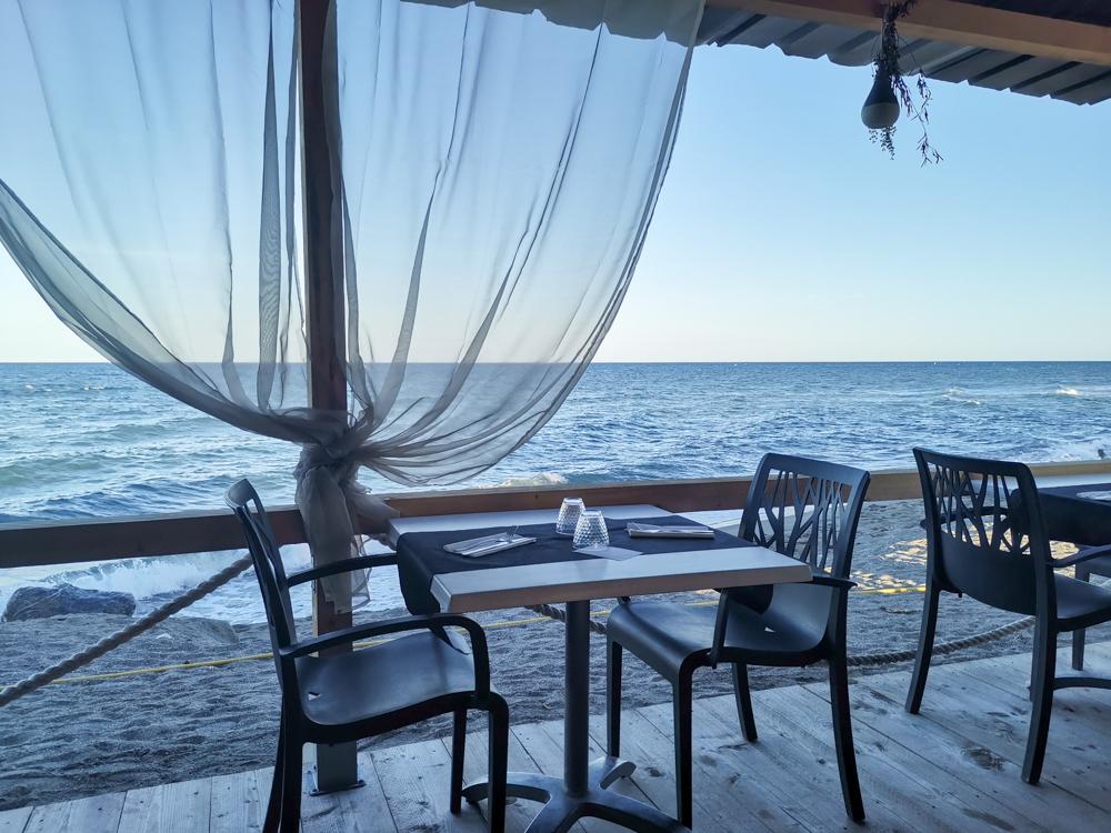 Camping Rundreise Korsika Restaurant Campingplatz Marina d'Aleria