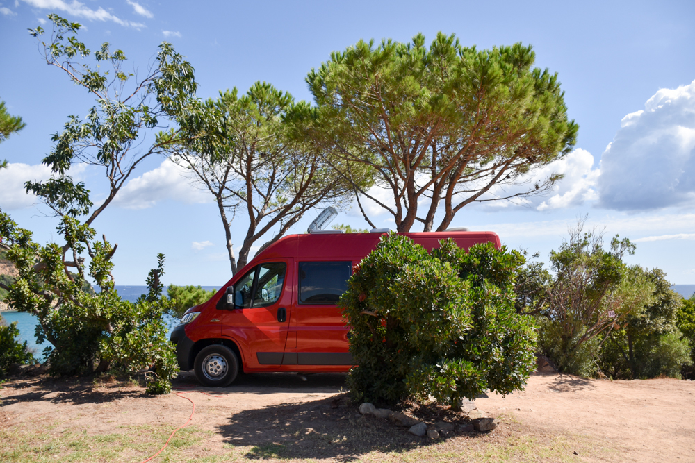 Camping Rundreise Korsika Campingplatz Fautea