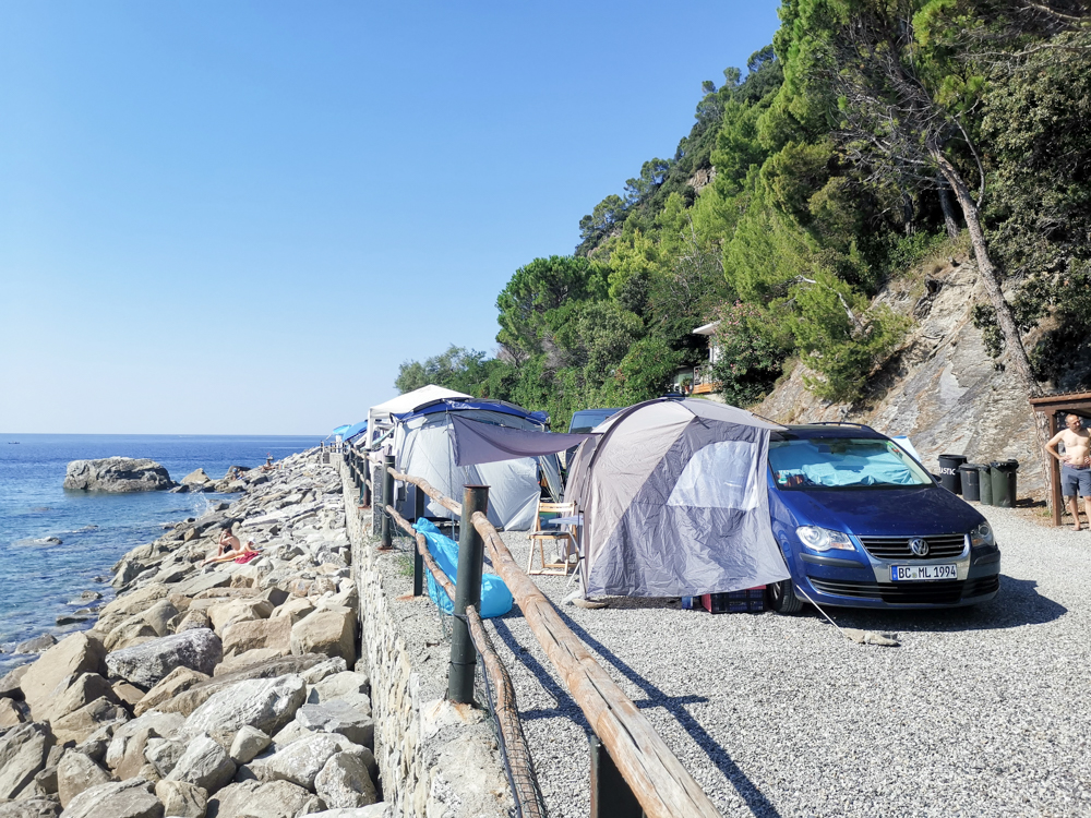 Camping Rundreise Korsika Campingplatz Smeraldo Moneglia