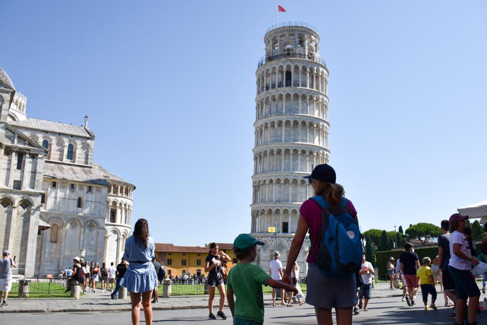 Camping Rundreise Korsika Rückfahrt durch Italien schiefer Turm von Pisa