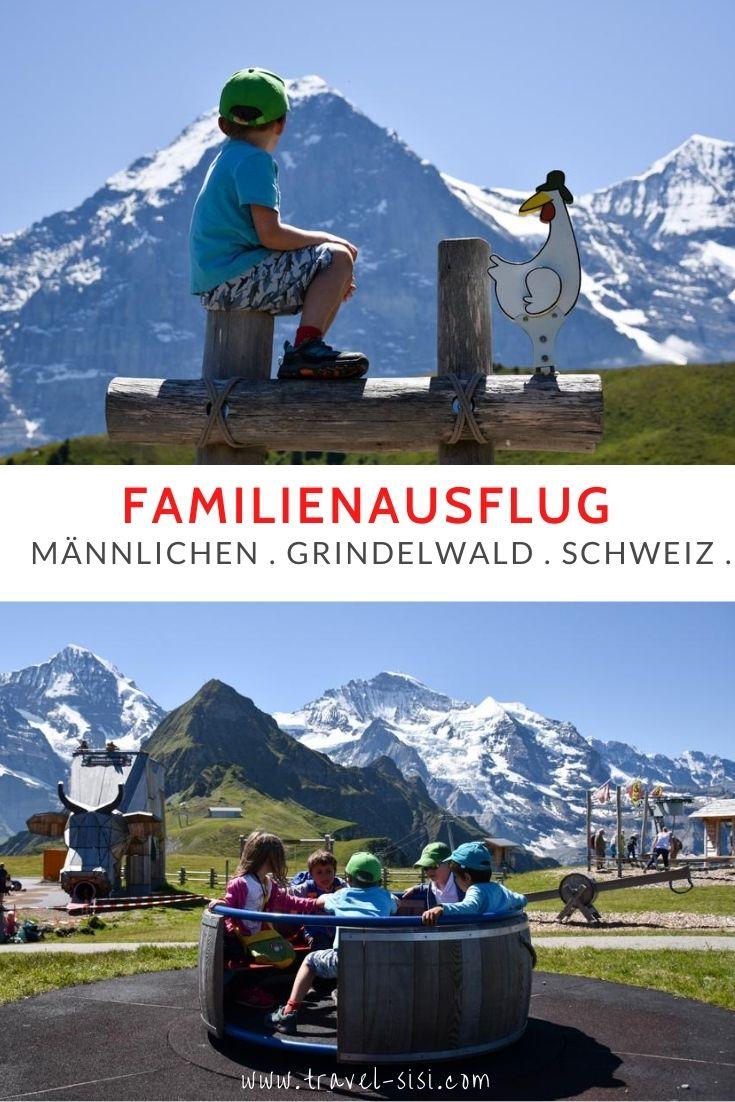 Familienausflug Männlichen Grindelwald Berner Oberland Schweiz