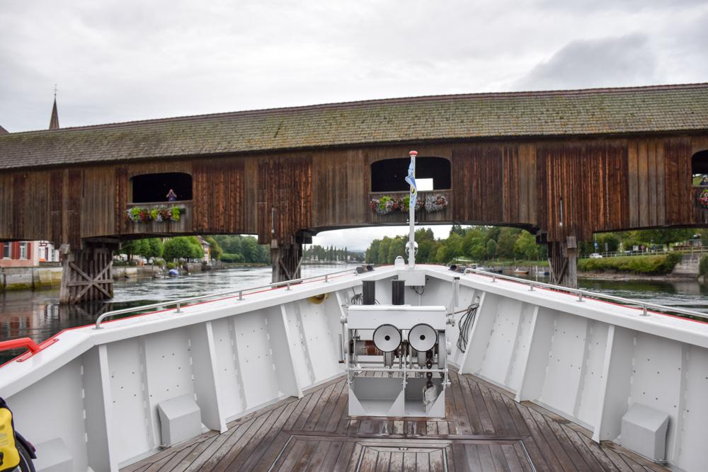 Familienwochenende Schaffhauserland Schweiz Brücke Rhein