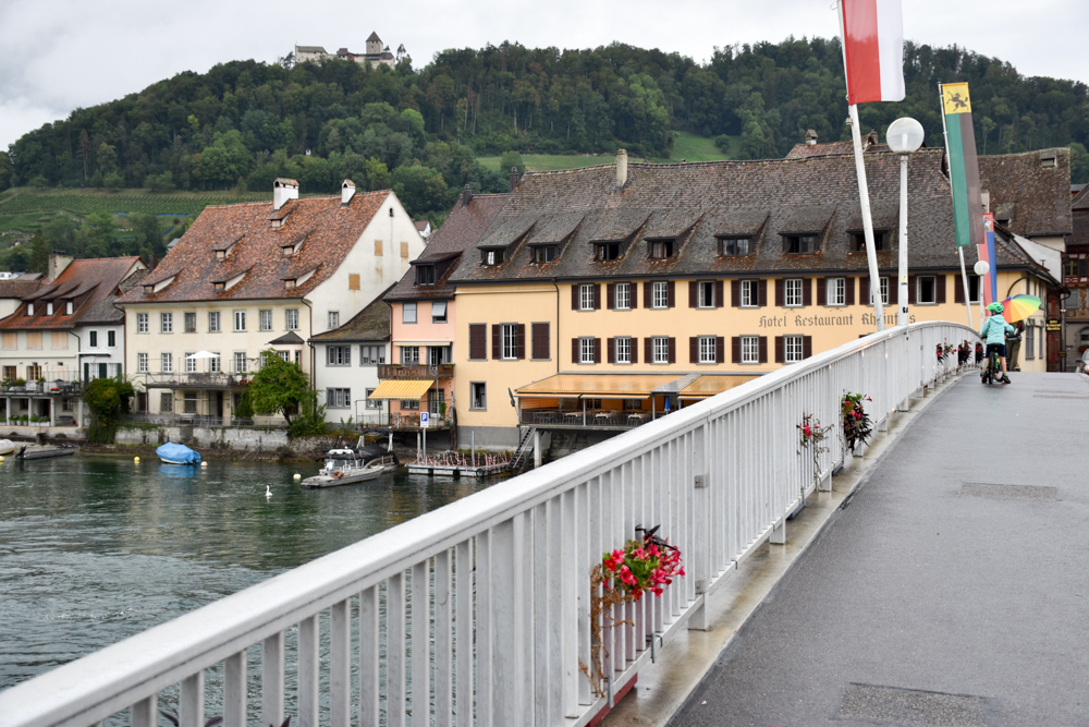 Familienwochenende Schaffhauserland Schweiz Fahrradfahrt Stein am Rhein