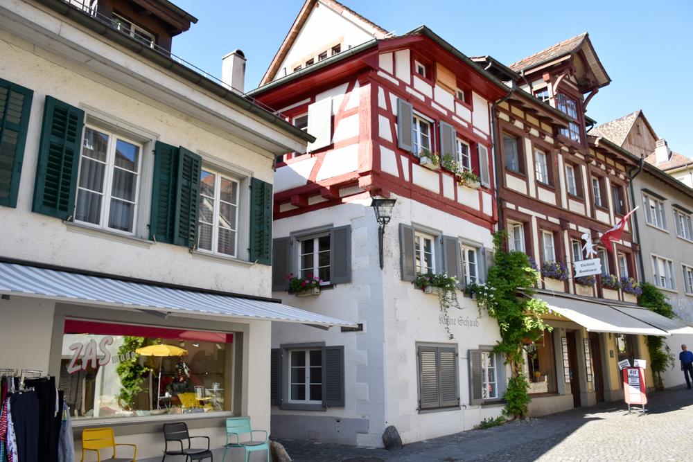 Familienwochenende Schaffhauserland Schweiz Häuser in Stein am Rhein