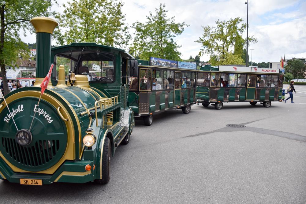 Familienwochenende Schaffhauserland Schweiz Rhyfall Express Schaffhausen