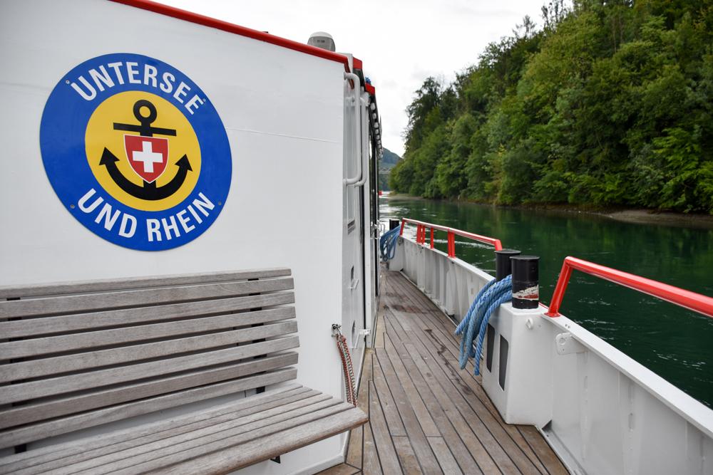 Familienwochenende Schaffhauserland Schweiz Schifffahrt auf dem Rhein