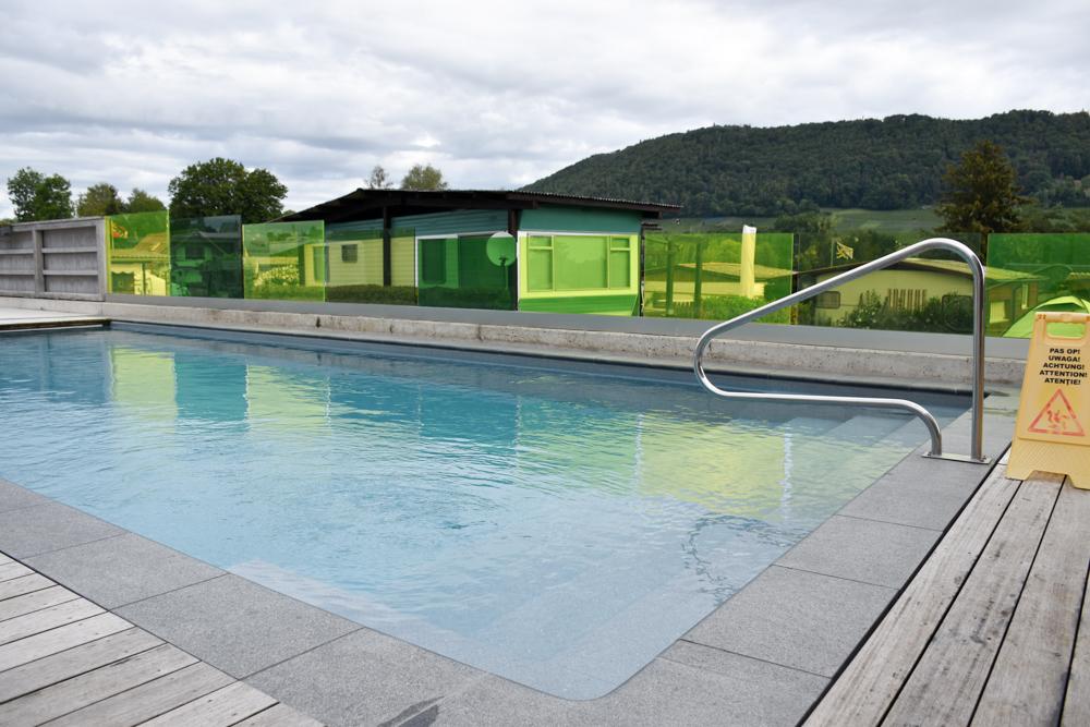 Familienwochenende Schaffhauserland Schweiz Schwimmbad Campingplatz Wagenhausen