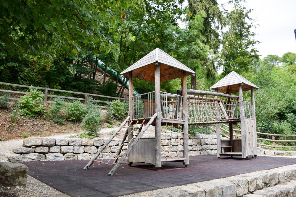 Familienwochenende Schaffhauserland Schweiz Spielplatz Rheinfall