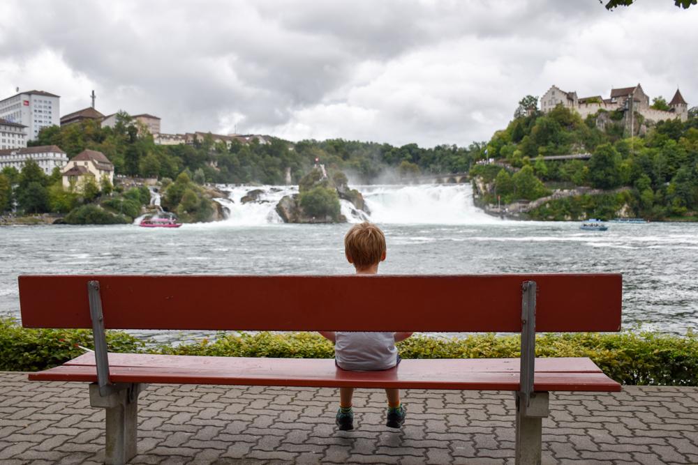 Familienwochenende Schaffhauserland Schweiz mit Kind am Rheinfall