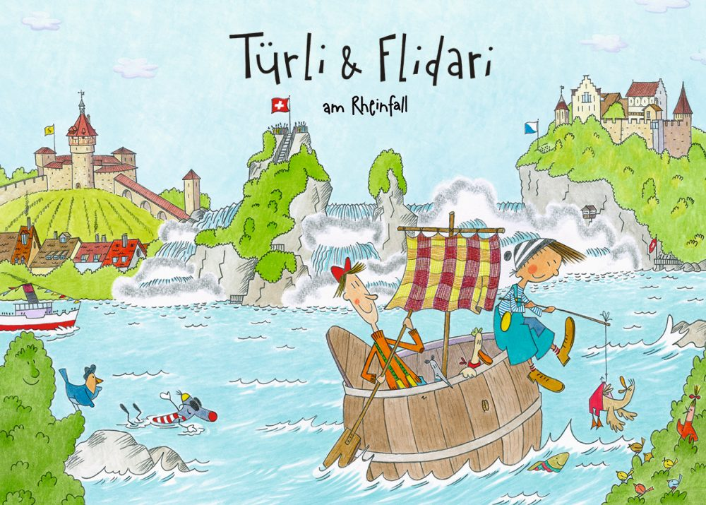 Kinderbuch Türli und Flidari am Rheinfall