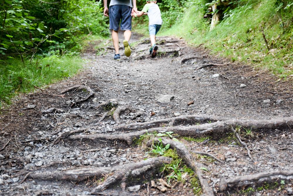 Ausflugstipp Wanderung Familie Rheinschlucht Graubünden Schweiz Carreratobel