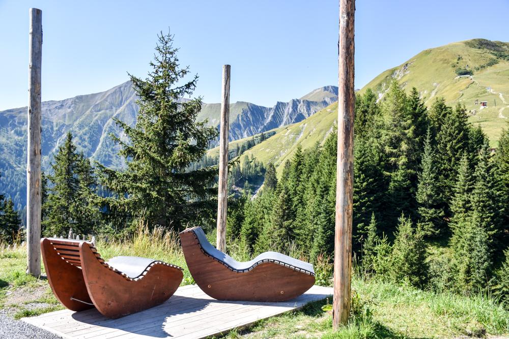 Familienwochenende Serfaus Tirol Österreich Entspannnung beim Murmliwasser