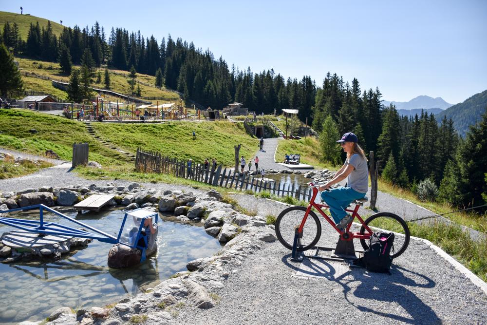 Familienwochenende Serfaus Tirol Österreich Erlebnispark Murmliwasser