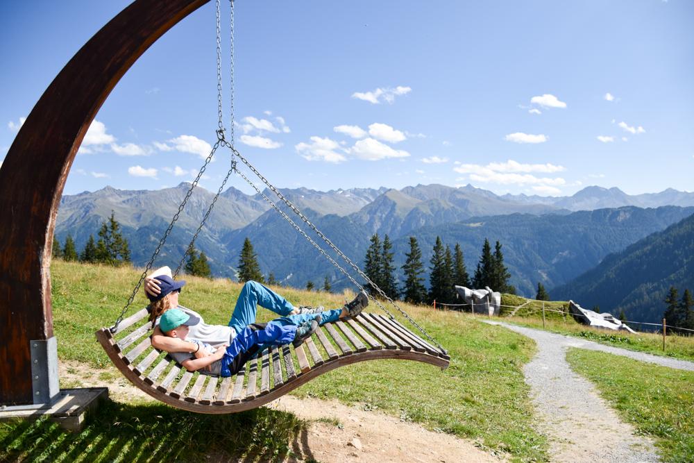 Familienwochenende Serfaus Tirol Österreich Familienhotel Furgler