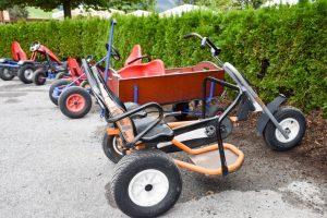 Familienwochenende Serfaus Tirol Österreich Gokarts Spielepark Familienhotel Furgler