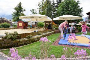 Familienwochenende Serfaus Tirol Österreich Spielepark Familienhotel Furgler