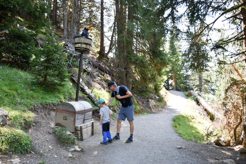 Familienwochenende Serfaus Tirol Österreich tolle Stationen auf dem Piratenweg