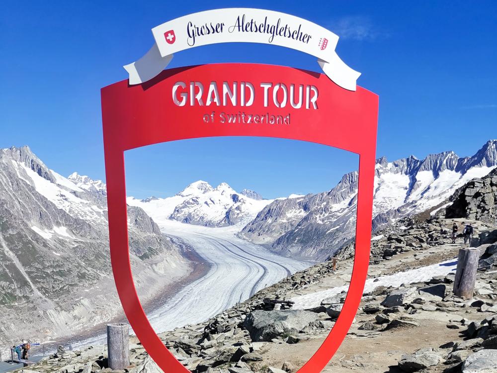 Kleine Grand Tour of Switzerland mit Familie Fotospot Grosser Aletschgletscher